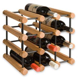 wooden rack for storing bottles