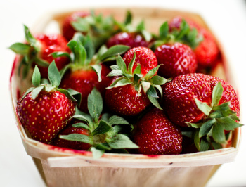 Strawberries for strawberry wine recipe