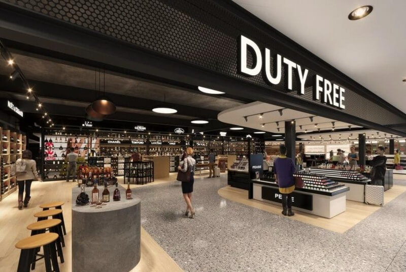 Duty Free Stores at the Airport